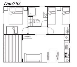 Modelo Duo 762 42m²