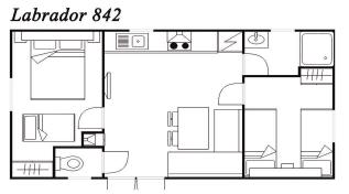 Modelo Labrador 842 32m²