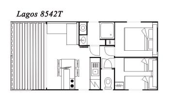 Modelo Lagos 8542T 34m²