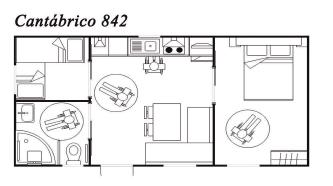 Modelo Cantábrico 842 32m²