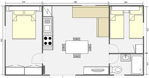 Mobil Home 32m² Bering 842