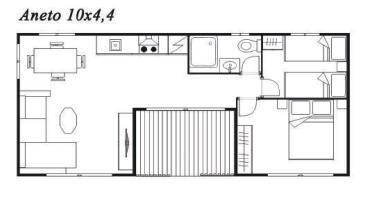 Modelo Aneto 10x4,4 44m²
