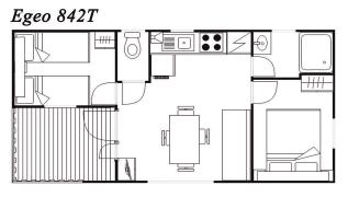 Modelo Egeo 842T 32m²