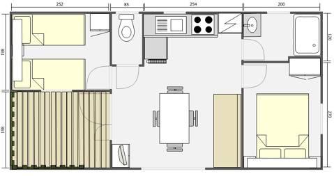 Mobil Home 32m² Egeo 842T