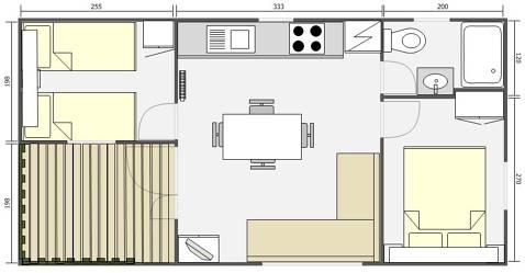 Mobil Home 32m² Jonico 842T