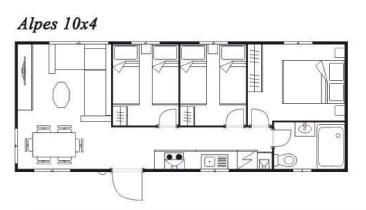 Modelo Alpes 10x4 40m²